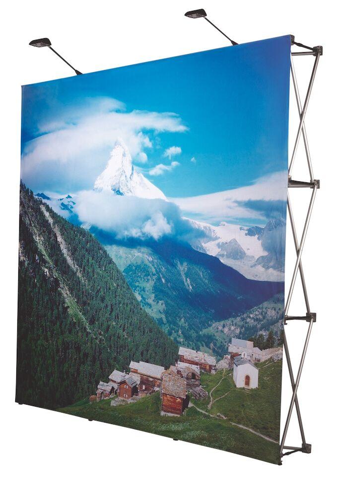 POPUP VÄGG 4x3(Polyester 200g) MED STÄLLNING INKL. VÄSKA 296x223 cm