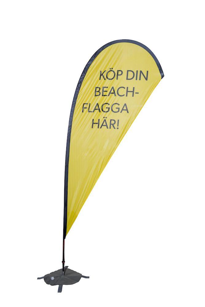 BEACHFLAGGA DROPPEN LARGE 430 CM (Flaggmått 135x280 cm) inkl. mast, bärväska. Markfäste tillkommer.