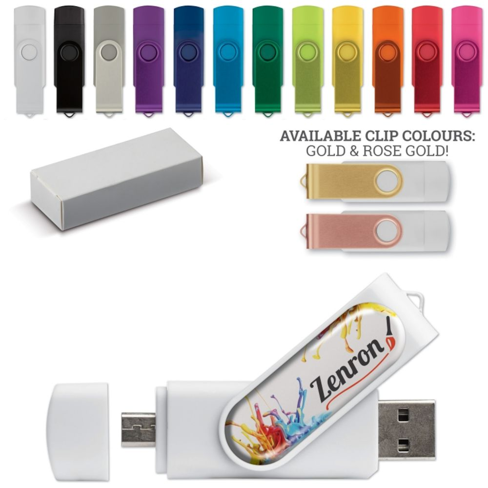 USB TWISTER 16GB OTG DOMING