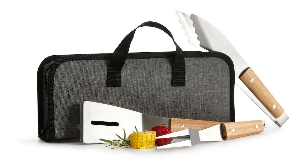 BBQ set 3 delar med väska