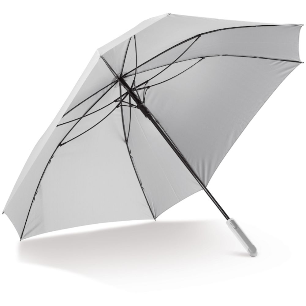 """Deluxe 27"""" fyrkantigt paraply med ficka"""