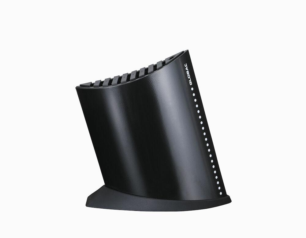 Knivblock svart 9+1