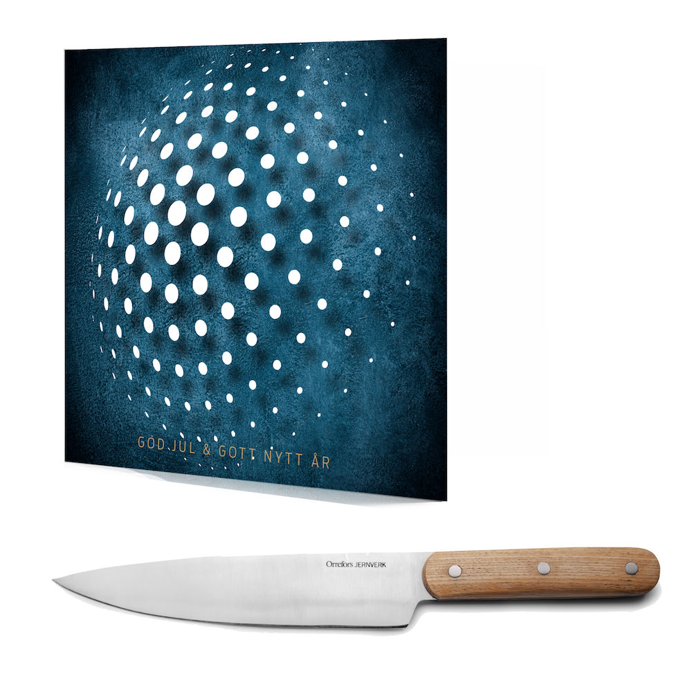 Julklappskortet 360 med medgåva Kockkniv