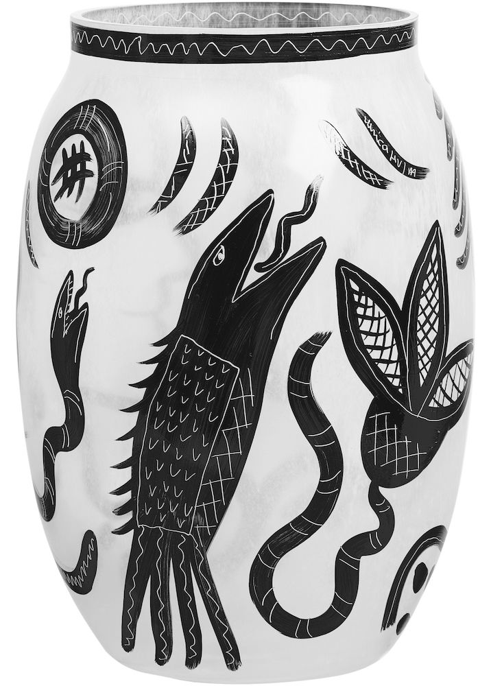 CARAMBA WHITE VASE H 340MM