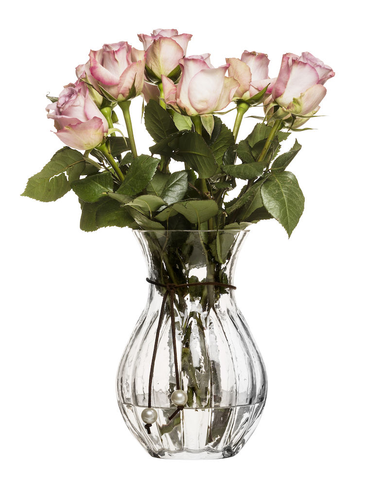 Pärla vase, høj, klar