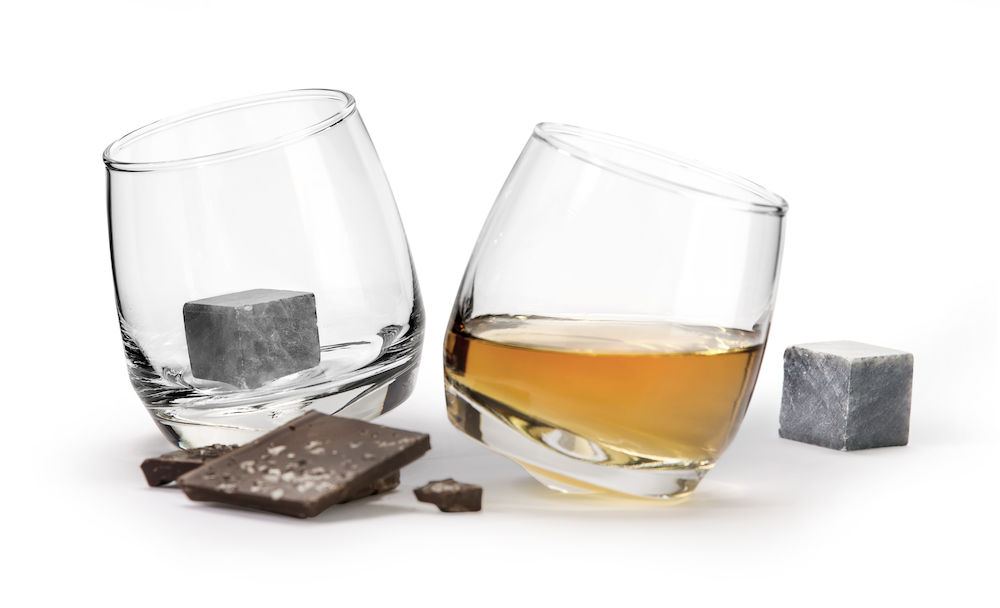 Club whiskyglas rundad botten 2-pack. Drinkstenar 2-pack.